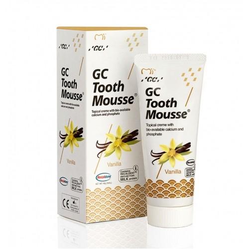 Tooth Mousse - апликационный мусс для реминерализации и снижения чувствительности зубн. тканей (ваниль) GC (40гр)
