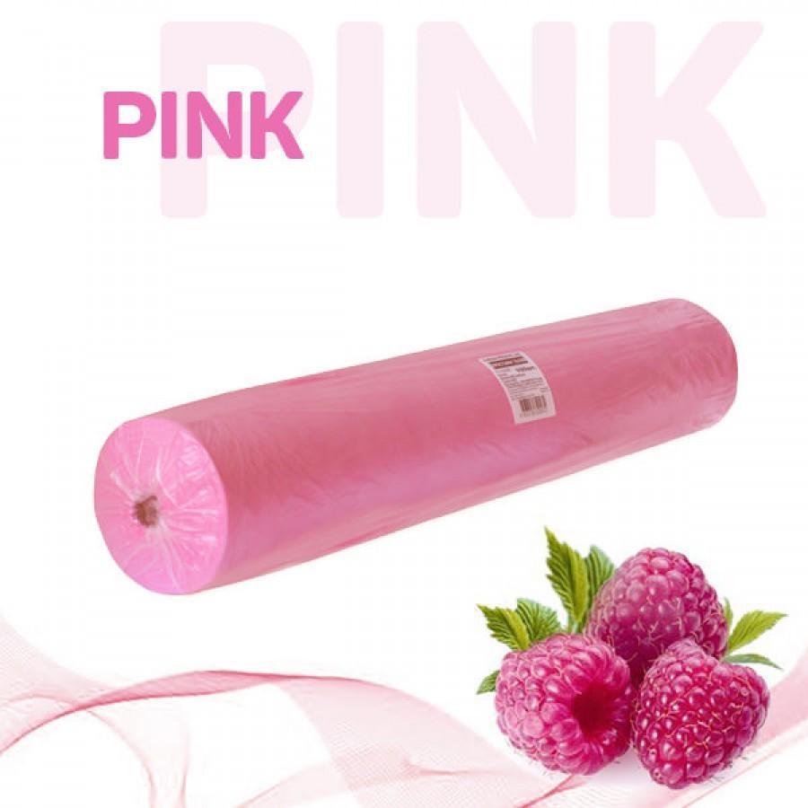 Простыни в рулоне Standart, цвет розовый, плотность 14гр/м2, размер 70х200см (уп.100шт)